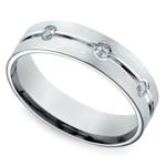Diamond Eternity Men's Wedding Ring in Platinum | Thumbnail 01
