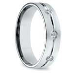 Diamond Eternity Men's Wedding Ring in White Gold | Thumbnail 02