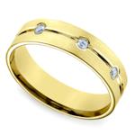 Diamond Eternity Men's Wedding Ring in Yellow Gold | Thumbnail 01
