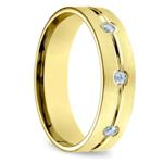 Diamond Eternity Men's Wedding Ring in Yellow Gold | Thumbnail 02