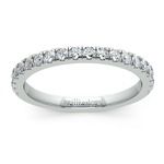 Petite Pave Diamond Wedding Ring in Palladium (1/3 ctw) | Thumbnail 02