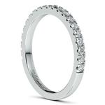 Petite Pave Diamond Wedding Ring in Palladium (1/3 ctw) | Thumbnail 05