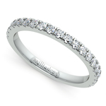 Petite Pave Diamond Wedding Ring in White Gold (1/3 ctw) | Thumbnail 01