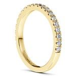 Petite Pave Diamond Wedding Ring in Yellow Gold (1/3 ctw) | Thumbnail 05