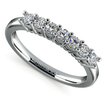 Seven Diamond Wedding Ring in Platinum (1/3 ctw) | Thumbnail 01