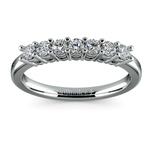 Seven Diamond Wedding Ring in Platinum (1/3 ctw) | Thumbnail 02
