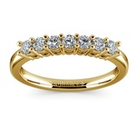 Seven Diamond Wedding Ring in Yellow Gold (1/3 ctw) | Thumbnail 02