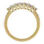 Seven Diamond Wedding Ring in Yellow Gold (1/3 ctw) | Thumbnail 03