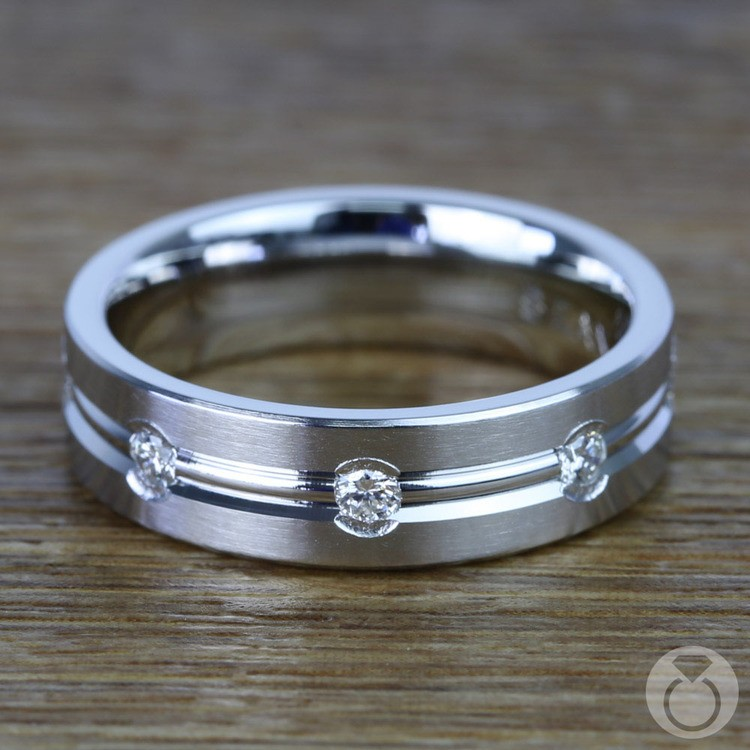 Diamond Eternity Men's Wedding Ring in Platinum | 03