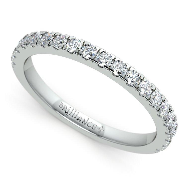 Petite Pave Diamond Wedding Ring in Palladium (1/3 ctw) | 01