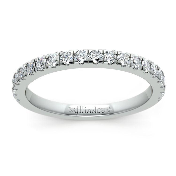 Petite Pave Diamond Wedding Ring in Platinum (1/3 ctw) | 02