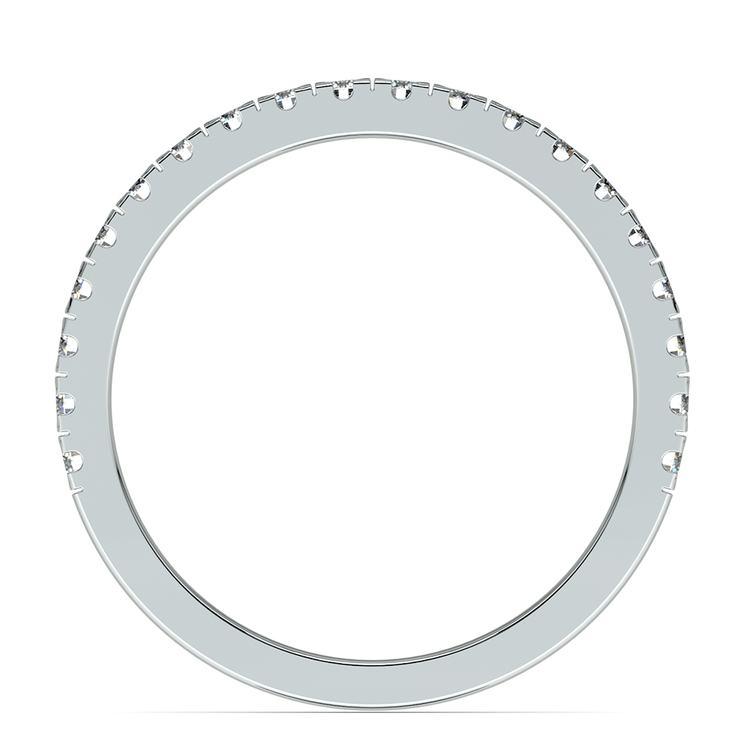 Petite Pave Diamond Wedding Ring in Platinum (1/3 ctw) | 03