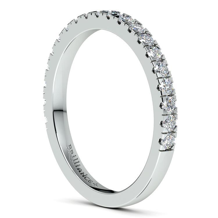 Petite Pave Diamond Wedding Ring in Platinum (1/3 ctw) | 05