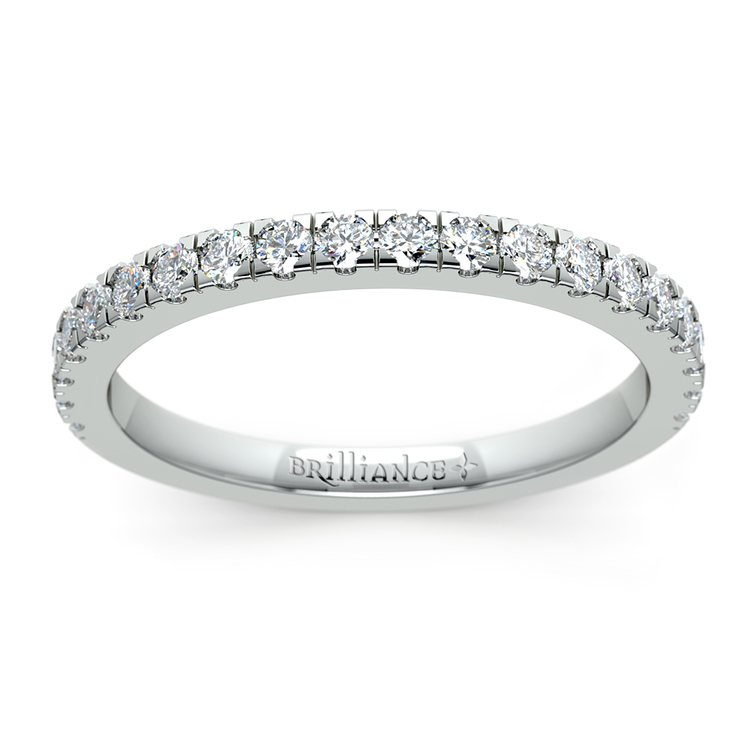 Petite Pave Diamond Wedding Ring in White Gold (1/3 ctw) | 02
