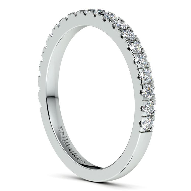 Petite Pave Diamond Wedding Ring in White Gold (1/3 ctw) | 05
