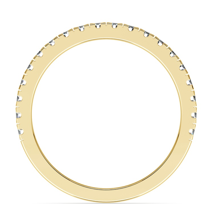 Petite Pave Diamond Wedding Ring in Yellow Gold (1/3 ctw) | 03
