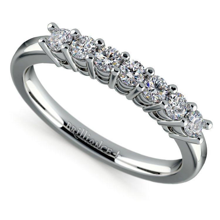 Seven Diamond Wedding Ring in Platinum (1/3 ctw) | 01