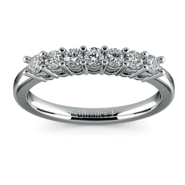 Seven Diamond Wedding Ring in Platinum (1/3 ctw) | 02