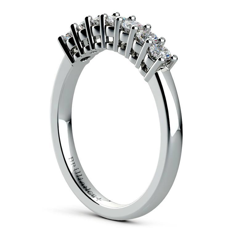 Seven Diamond Wedding Ring in Platinum (1/3 ctw) | 04