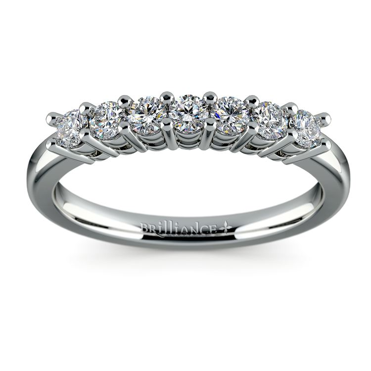 Seven Diamond Wedding Ring in White Gold (1/3 ctw) | 02
