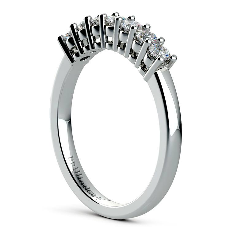 Seven Diamond Wedding Ring in White Gold (1/3 ctw) | 04