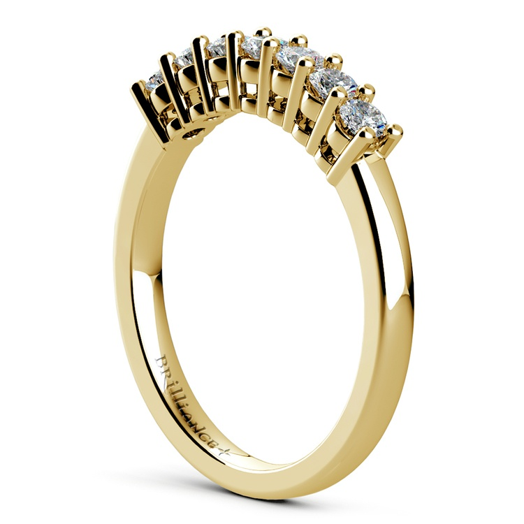 Seven Diamond Wedding Ring in Yellow Gold (1/3 ctw) | 04