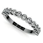 Bezel Diamond Wedding Ring in White Gold  | Thumbnail 01