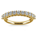 Eleven Diamond Wedding Ring in Yellow Gold (3/4 ctw) | Thumbnail 02