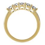 Five Diamond Wedding Ring in Yellow Gold (3/4 ctw) | Thumbnail 03