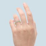Five Diamond Wedding Ring in Yellow Gold (3/4 ctw) | Thumbnail 05