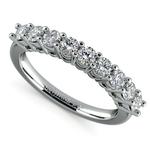 Nine Diamond Wedding Ring in White Gold (3/4 ctw) | Thumbnail 01