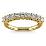 Nine Diamond Wedding Ring in Yellow Gold (3/4 ctw) | Thumbnail 02