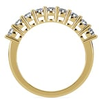 Nine Diamond Wedding Ring in Yellow Gold (3/4 ctw) | Thumbnail 03