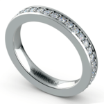 Pave Diamond Eternity Ring in Platinum (3/4 ctw) | Thumbnail 01