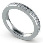 Pave Eternity Diamond Ring in White Gold (3/4 ctw) | Thumbnail 01