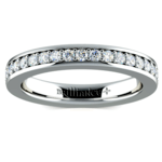 Pave Eternity Diamond Ring in White Gold (3/4 ctw) | Thumbnail 02