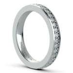 Pave Eternity Diamond Ring in White Gold (3/4 ctw) | Thumbnail 04