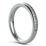 Pave Diamond Wedding Ring in Platinum  | Thumbnail 04