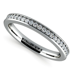Pave Diamond Wedding Ring in White Gold  | Thumbnail 01