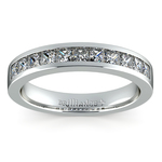 Princess Channel Diamond Wedding Ring in White Gold (3/4 ctw) | Thumbnail 02