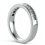 Princess Channel Diamond Wedding Ring in White Gold (3/4 ctw) | Thumbnail 04