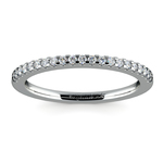 Scallop Diamond Wedding Ring in Palladium (1/4 ctw) | Thumbnail 02