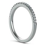 Scallop Diamond Wedding Ring in White Gold (1/4 ctw) | Thumbnail 04