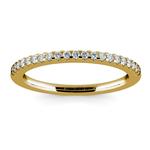Scallop Diamond Wedding Ring in Yellow Gold (1/4 ctw) | Thumbnail 02
