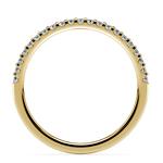 Scallop Diamond Wedding Ring in Yellow Gold (1/4 ctw) | Thumbnail 03