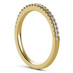 Scallop Diamond Wedding Ring in Yellow Gold (1/4 ctw) | Thumbnail 04