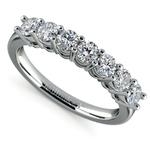Seven Diamond Wedding Ring in Platinum (3/4 ctw) | Thumbnail 01
