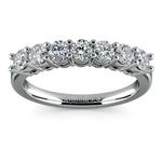 Seven Diamond Wedding Ring in Platinum (3/4 ctw) | Thumbnail 02