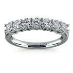 Seven Diamond Wedding Ring in White Gold (3/4 ctw) | Thumbnail 02
