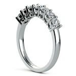 Seven Diamond Wedding Ring in White Gold (3/4 ctw) | Thumbnail 04